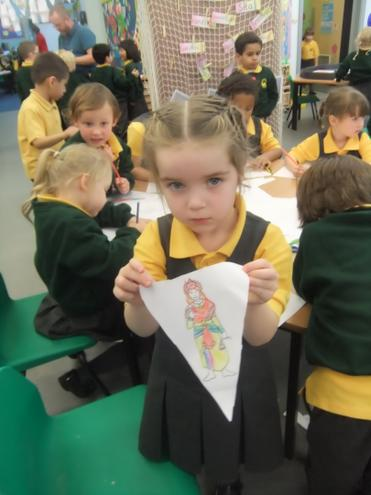 Decorating the classroom with Diwali bunting