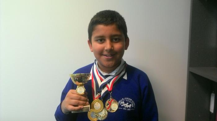 Ajay - 3KR - football medals and trophy