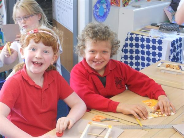 We've been making our own toy car!