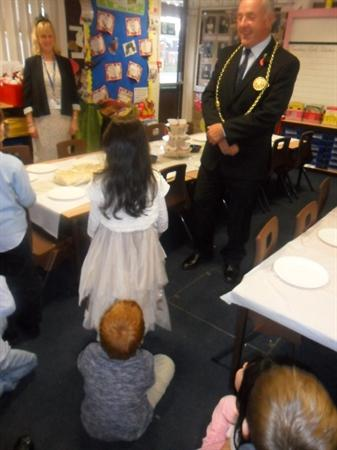 The Mayor visited Class4