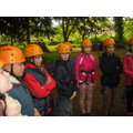 Preparing for zip wire.