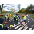 Road Safety. Using the Belisha Beacons.