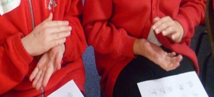 Aim High Career Days - pupils signing