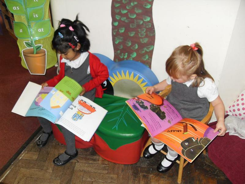 Literacy - our quiet book area