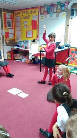 Using our drama skills to act out poems