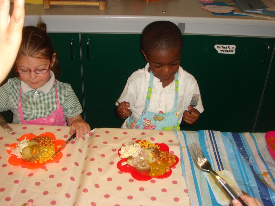 The children used a variety of different toppings.