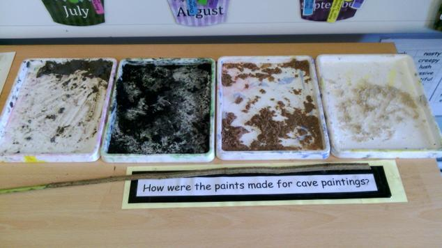 ...and have mixed paint using unusual ingredients.