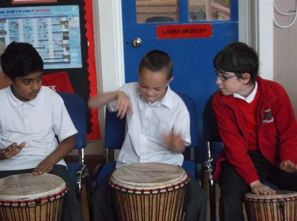Year 6 drumming