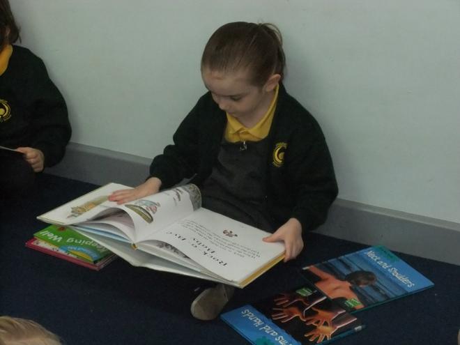 We love reading in the book corner