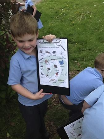 We found lots of mini beasts in our environment
