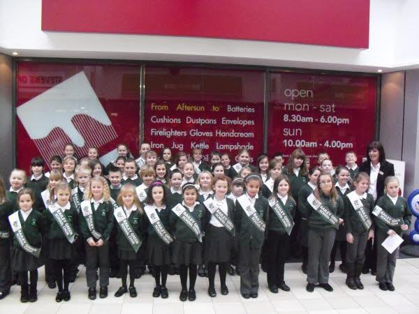 Bailey Green school choir sang in Killingworth