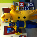 Pudsey and Bananaman - an unusual combination!