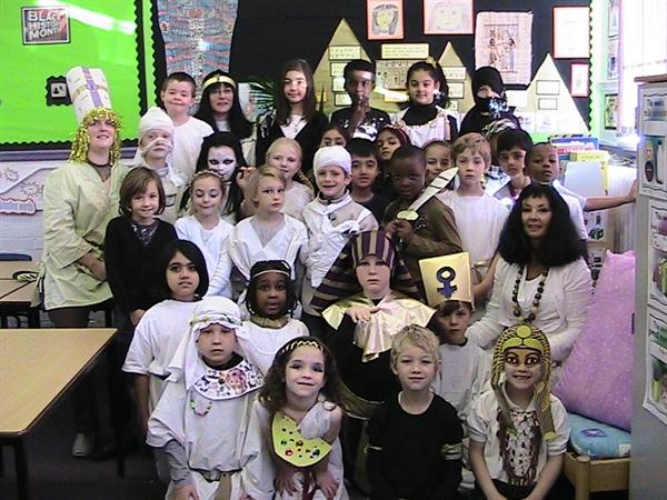 Zebra Class on Ancient Egyptian Day