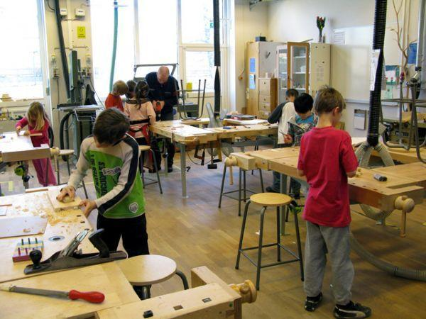 Ulriksberg School: the woodwork classroom