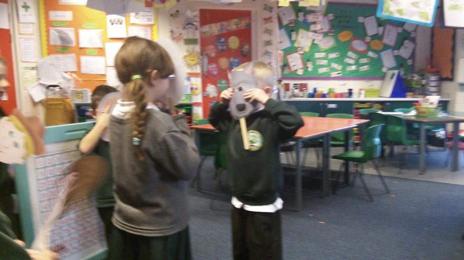 We role played the story Little Red Riding Hood