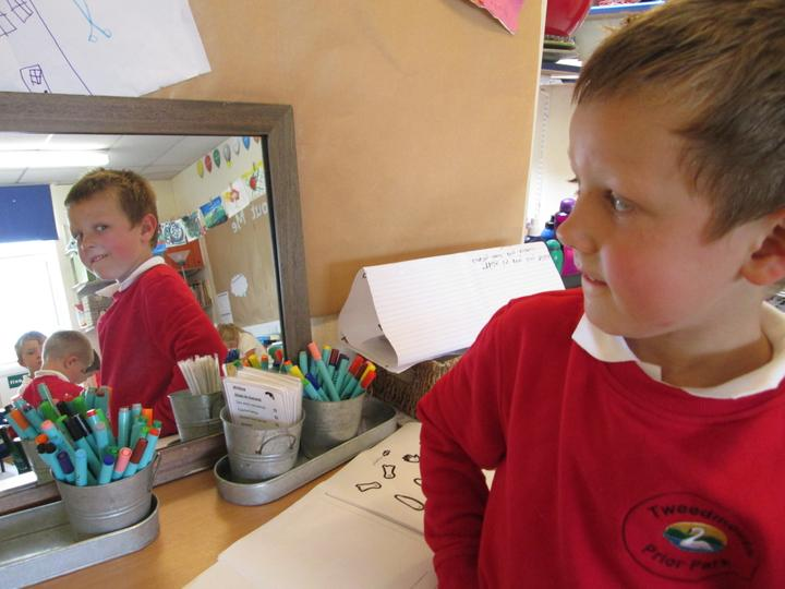 Using the mirror to explore our faces