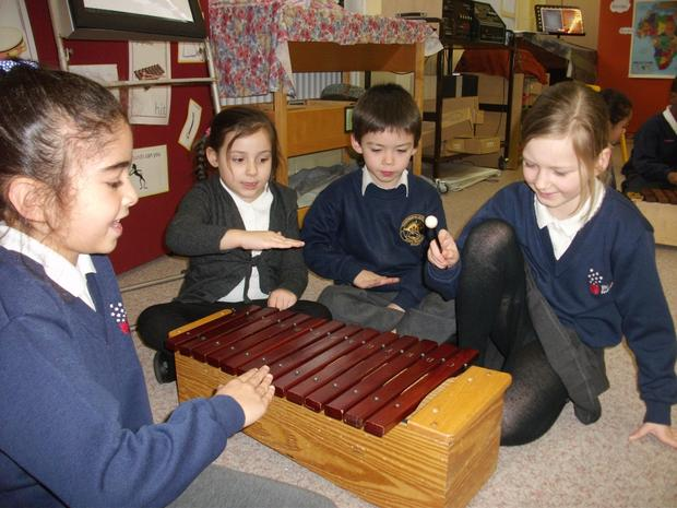 Year2 are learning about pitch&pitched instruments