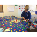 Creating our own dinosaurs with printed patterns