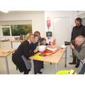 Posing for Stourbridge News