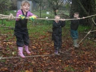 The ever popular low ropes