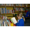 We enjoy using the school library for class work