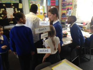 Year 6 came to ask us questions about our topic.