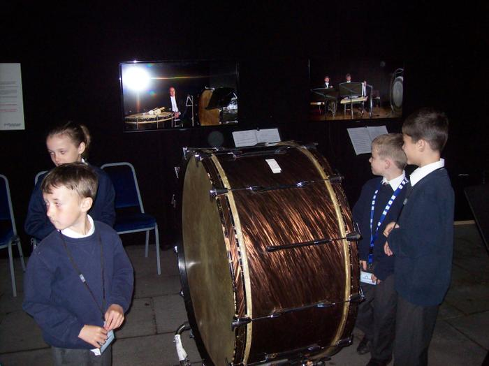 We had a go at being the percussion section