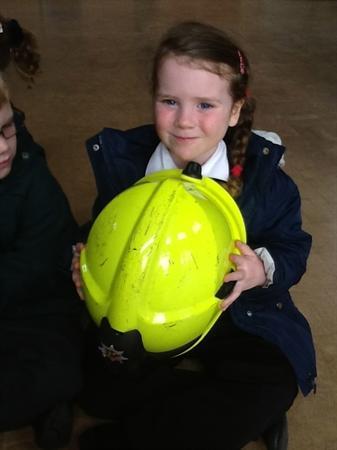 The helmet was very heavy!