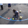 We have been learning about shapes ...