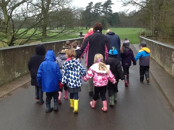 Walking quietly over the trolls bridge!