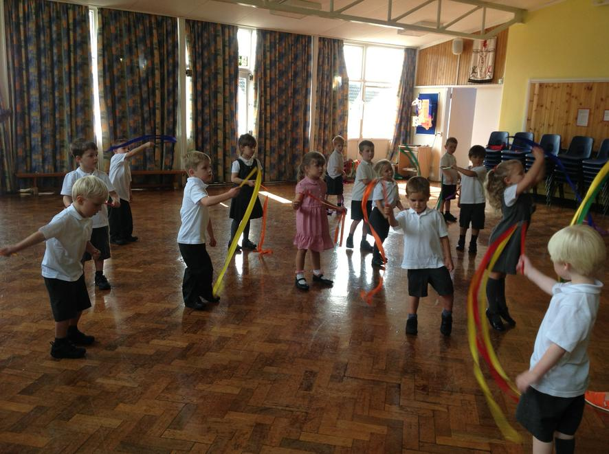 Dancing with ribbons in Write Dance