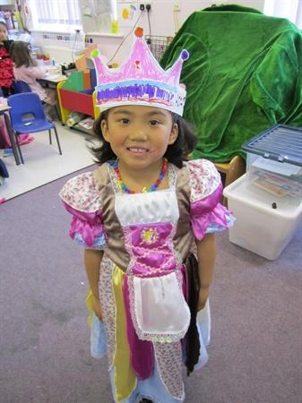 Dressed up as a Princess