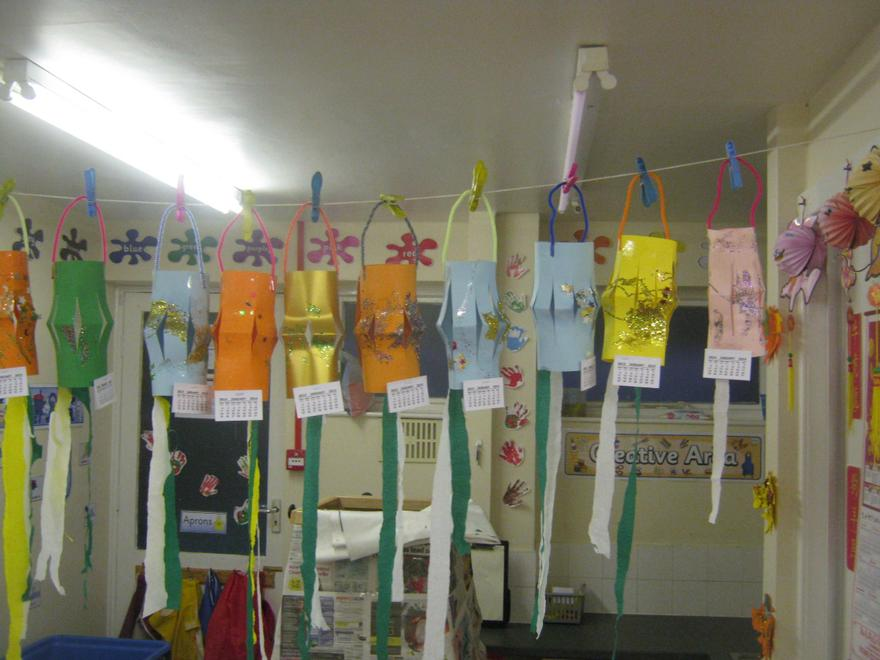 We have made some Chinese Lanterns