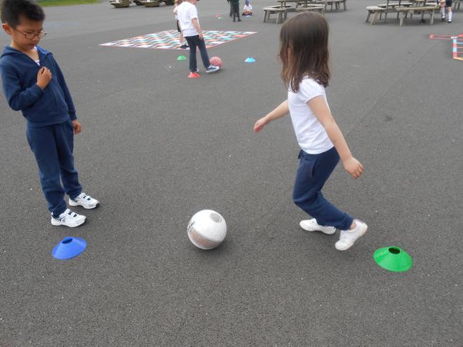 Dribbling the ball