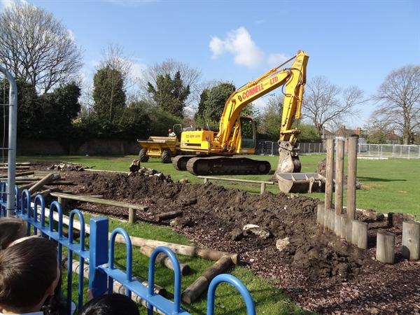 Excitement as diggers move in.