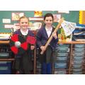Paisley & Serena's Viking weapons!