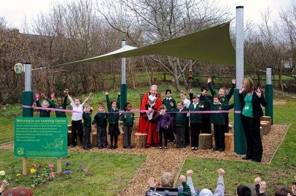 Mayor opens our Learning Garden