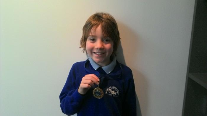 Finlay - 3GR - Cricket medal -arrived in the post!