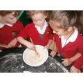 Following recipes to make our own oaty playdough