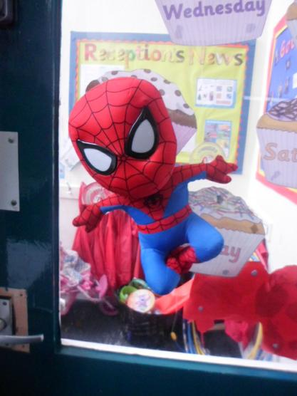 Spiderman did some super powers in school!
