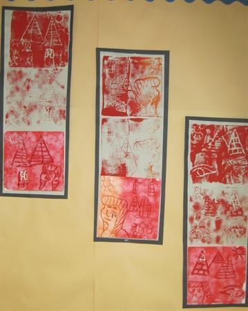 Printing using polystyrene tiles