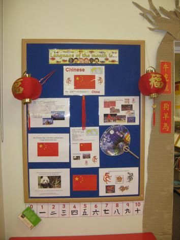 "Chinese was our ""Language of the Month"" -Spring 1"