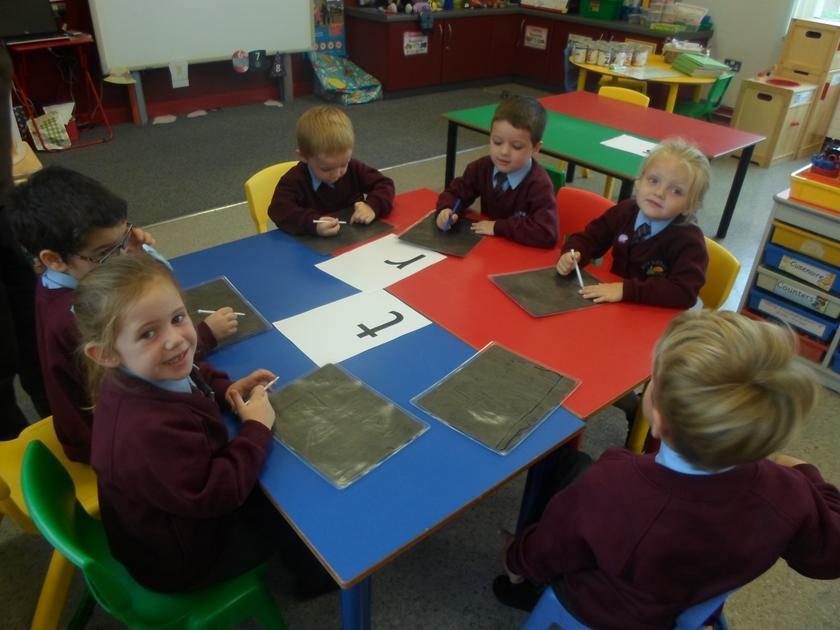 Writing letters on Gel boards
