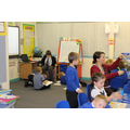 Issac teaching a group in Year 2