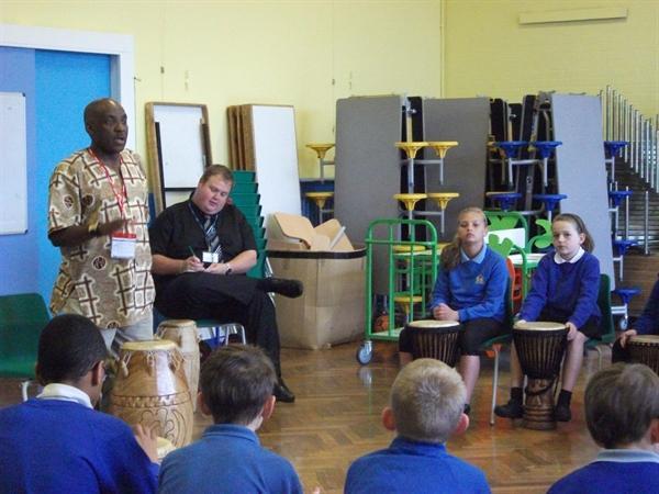 Y6 African Drumming