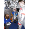 We love dressing up and blasting in to space!