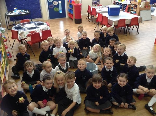 Our first day at school!