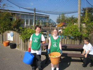 'Little Rotters' composting team!