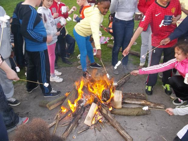 Campfire cookery in Cornwall