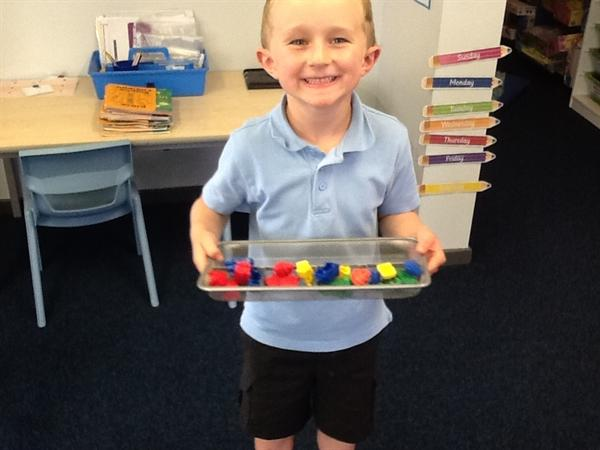 We've been using our transport toys to count in 3s